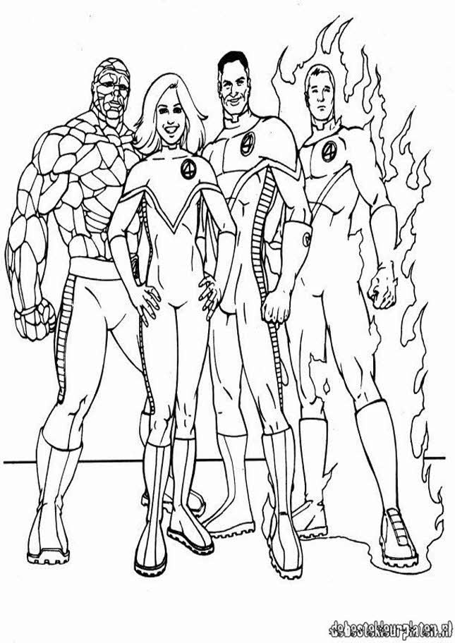Adventure Time Kleurplaat Fantastic Four7 Printable Coloring Pages