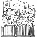 Queen's Day coloringpages -