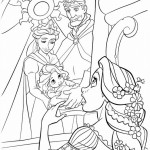 Tangled coloringpages -