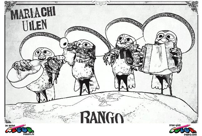 Rango005 Printable Coloring Pages