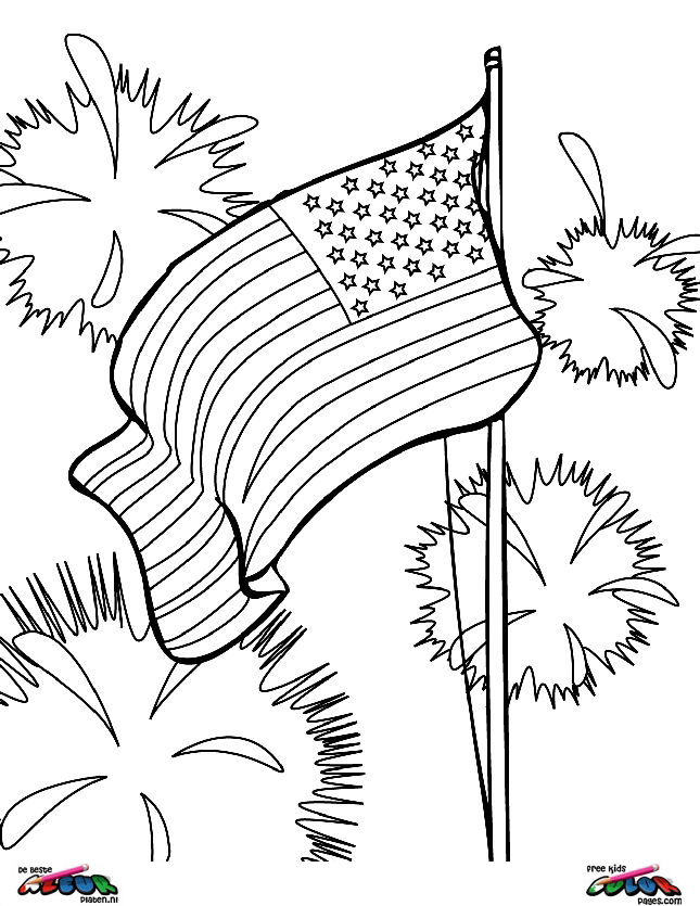 4th of july001 printable coloring pages for Independence day coloring pages