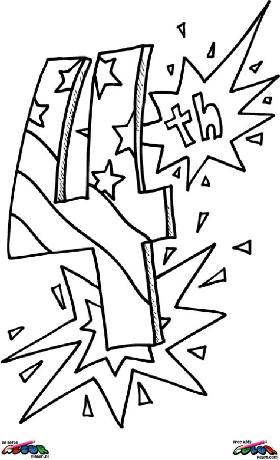 4th-of-July016 - Printable coloring pages