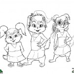 Alvin and the Chipmunks coloringpages -