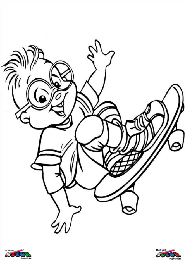 Alvin and the chipmunks010 - Printable coloring pages