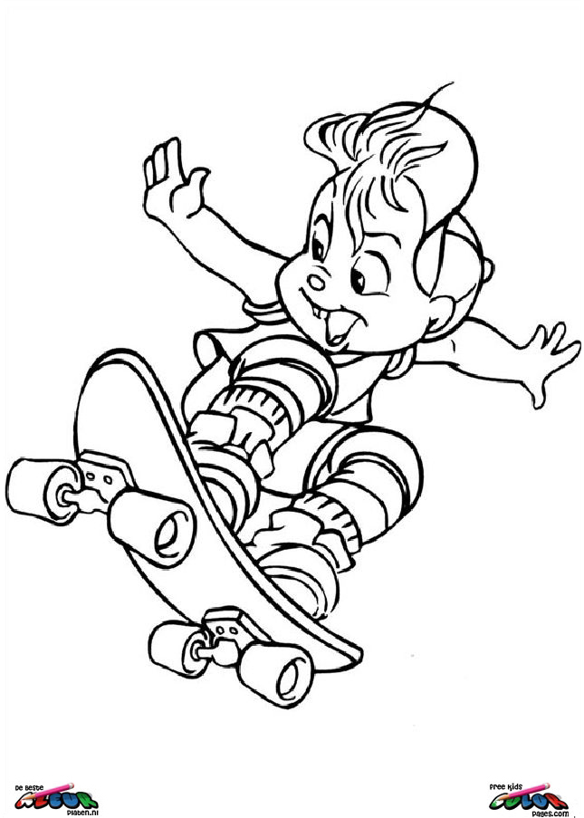 Alvin and the chipmunks011 Printable coloring pages