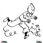 Tintin coloringpages -