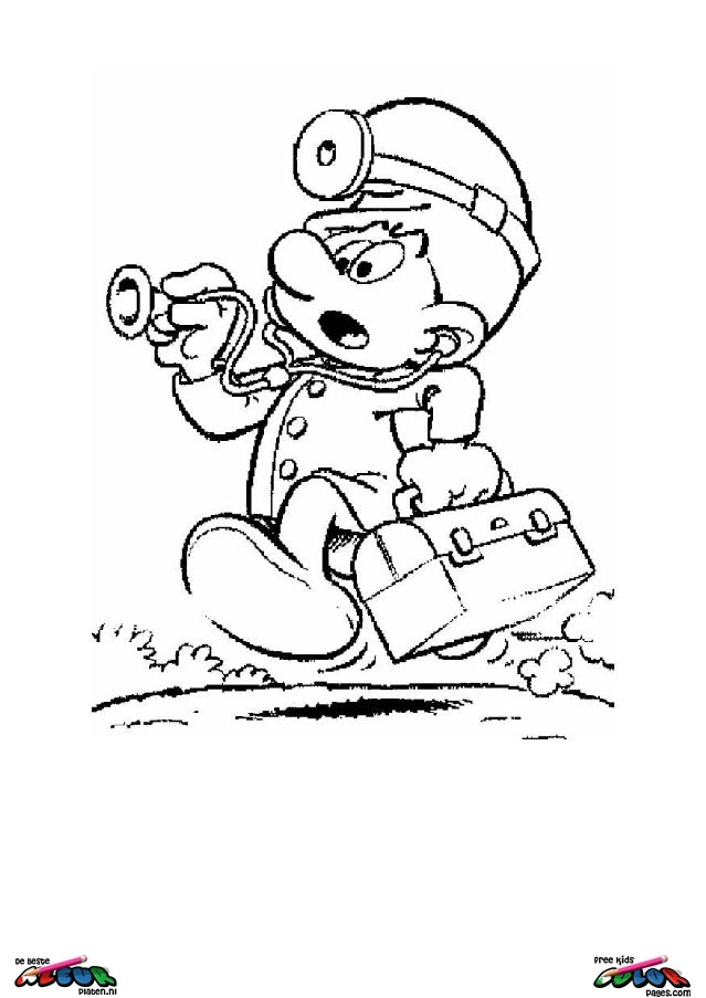 The Smurfs002 Printable Coloring Pages
