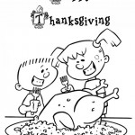Thanksgiving Day coloringpages -