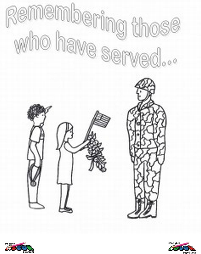 Veterans day006 printable coloring pages for Veterans coloring pages free