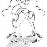 Groundhog Day coloringpages -
