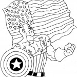 The Avengers coloringpages - Captain-America1