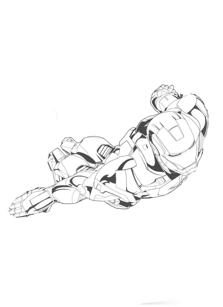 Flying Iron Man Coloring Page Printable Coloring Pages
