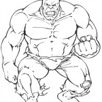 The Avengers coloringpages - hulk-04