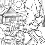 The Incredible Hulk coloring pages 5