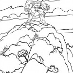 The Incredible Hulk coloring pages 1