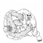 The Incredible Hulk coloring pages 7