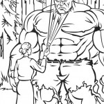The Incredible Hulk coloring pages 6