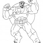 The Avengers coloringpages - hulk_003