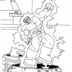 The Incredible Hulk coloring pages 14