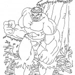 The Incredible Hulk coloring pages 12