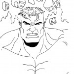 The Avengers coloringpages - hulk_010