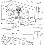 The Incredible Hulk coloring pages 9