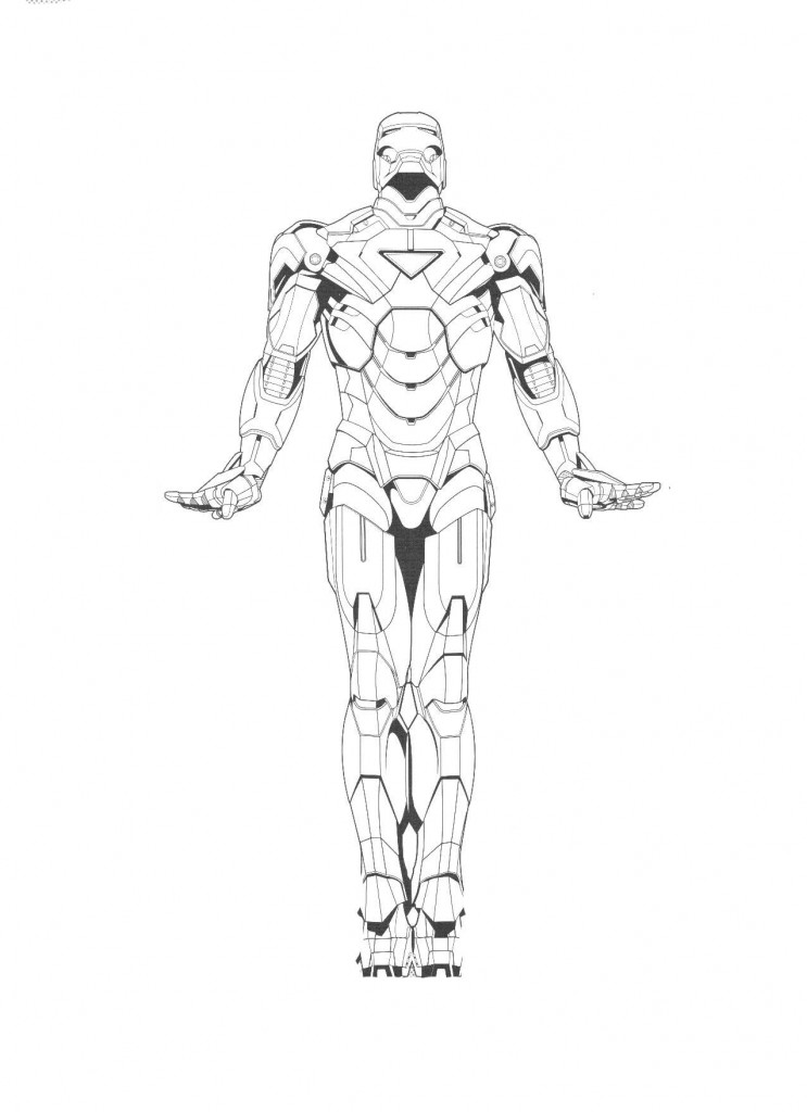 Iron Man 2 Coloring Page Printable Coloring Pages