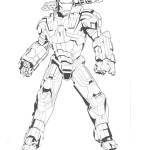 Iron Man coloring pages 9