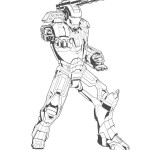 Iron Man coloring pages 4