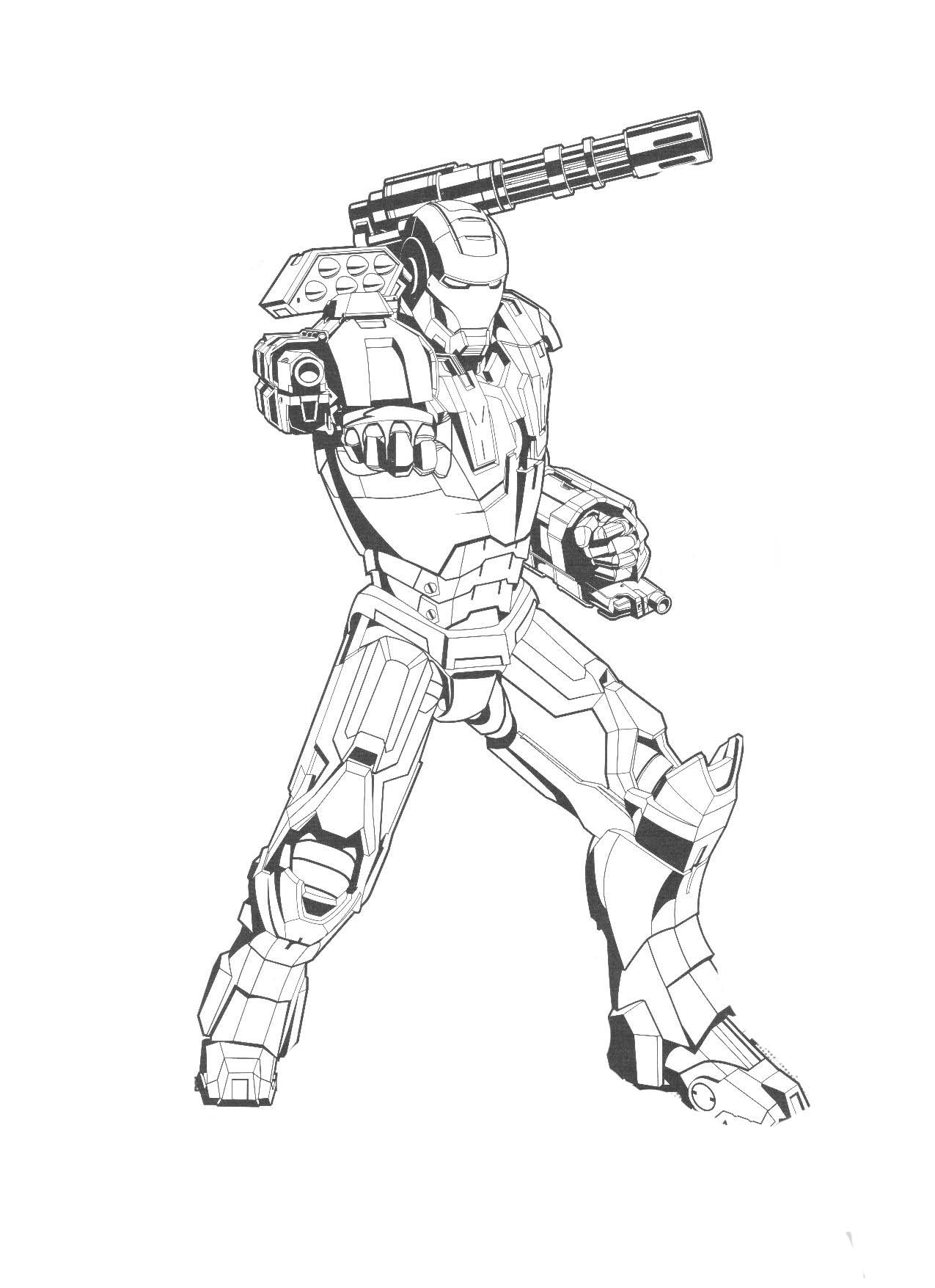 Iron Patriot Coloring Page Iron Man Coloring Page
