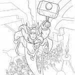 The Almighty Thor coloringpages -