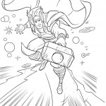 The Avengers coloringpages - thor-34