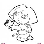 Dora the Explorer coloringpages -