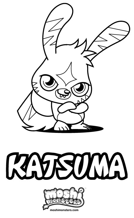 Moshi monsters 2 printable coloring pages for Moshi monsters coloring pages katsuma