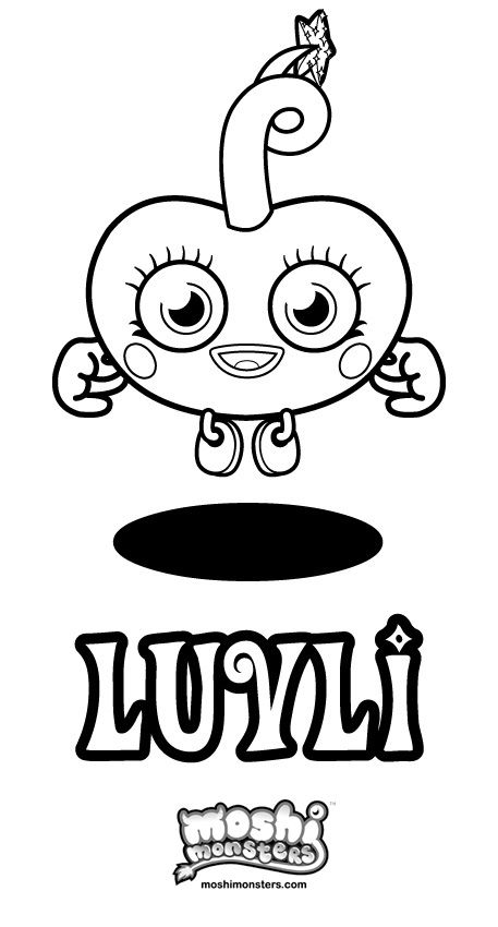 Moshi monsters 3 printable coloring pages for Moshi monsters coloring pages katsuma