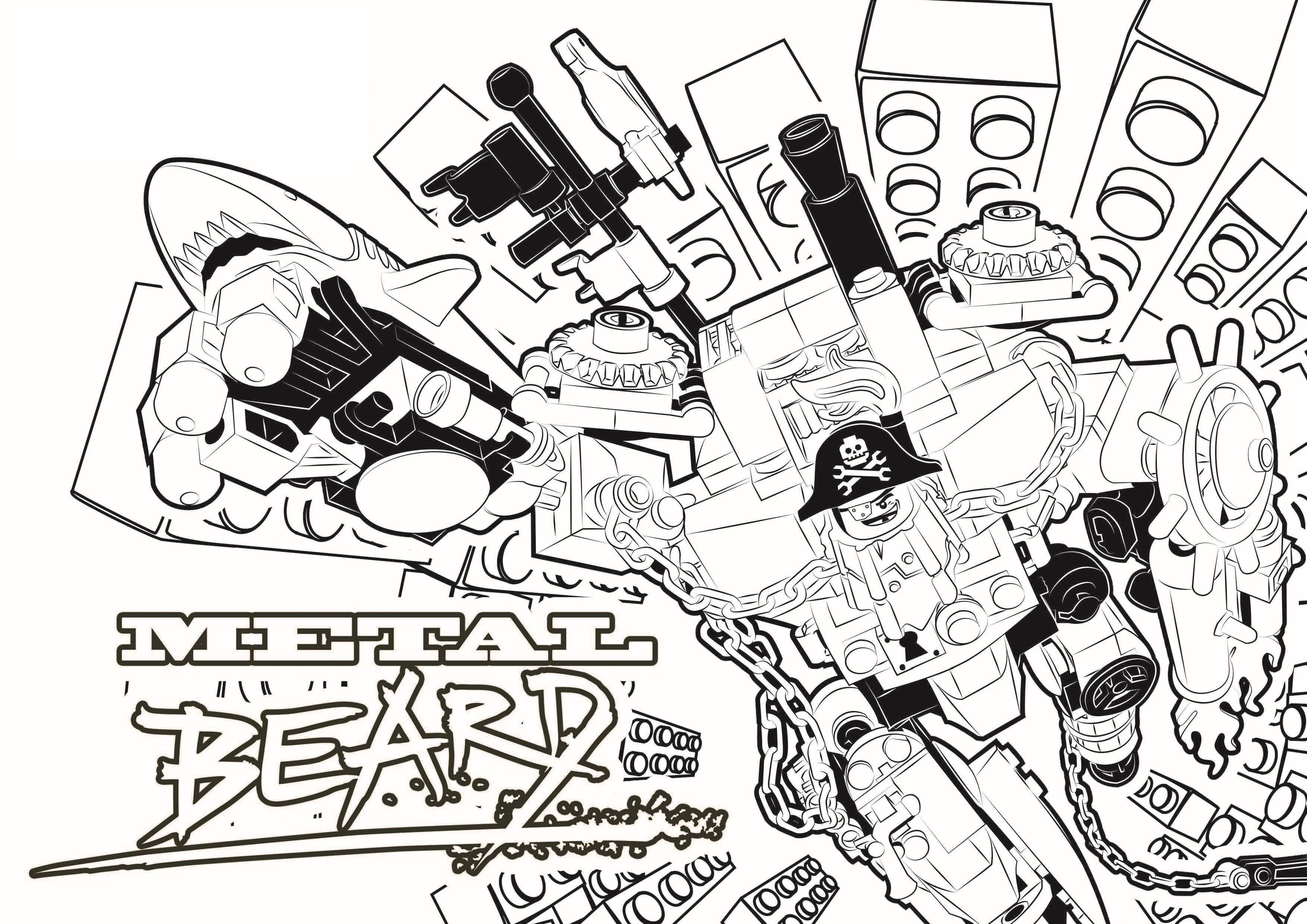 legomovie 4 printable coloring pages