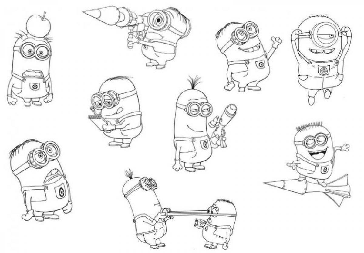 coloring pages for despicable me 837