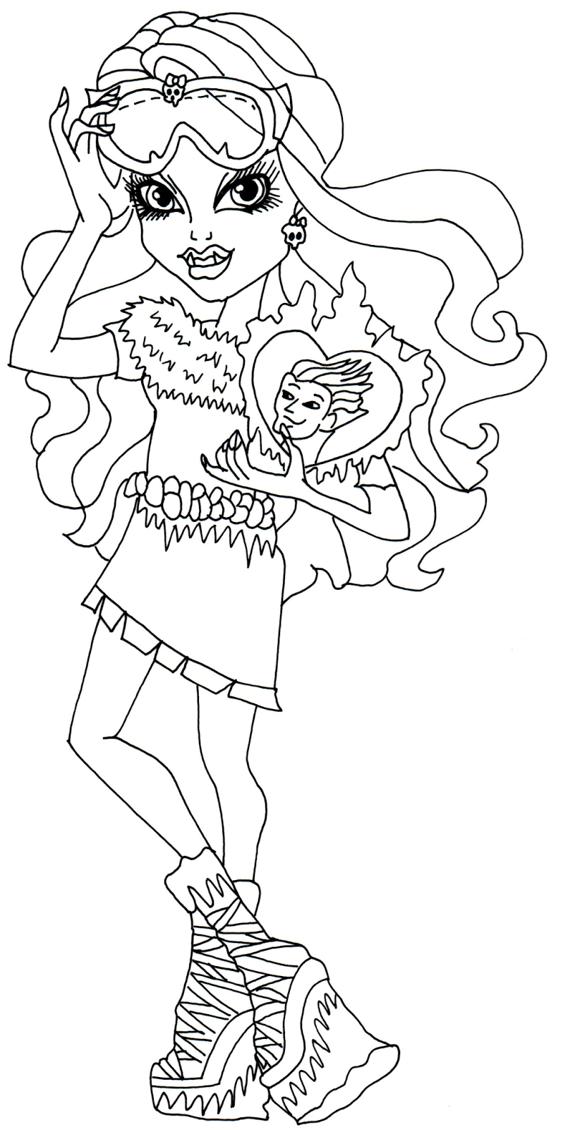 Monster High 1 Printable coloring pages