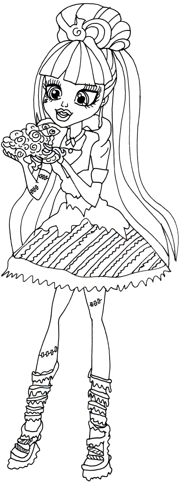 venus mcflaytrap monster high free coloring pages