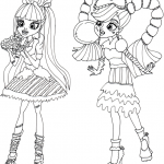 Monster High coloringpages -