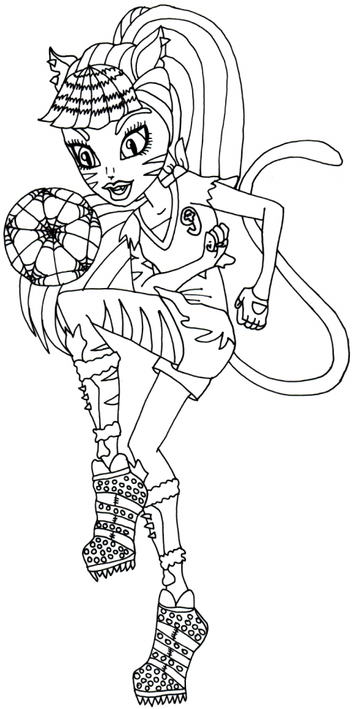 Monster High 42 Printable coloring pages