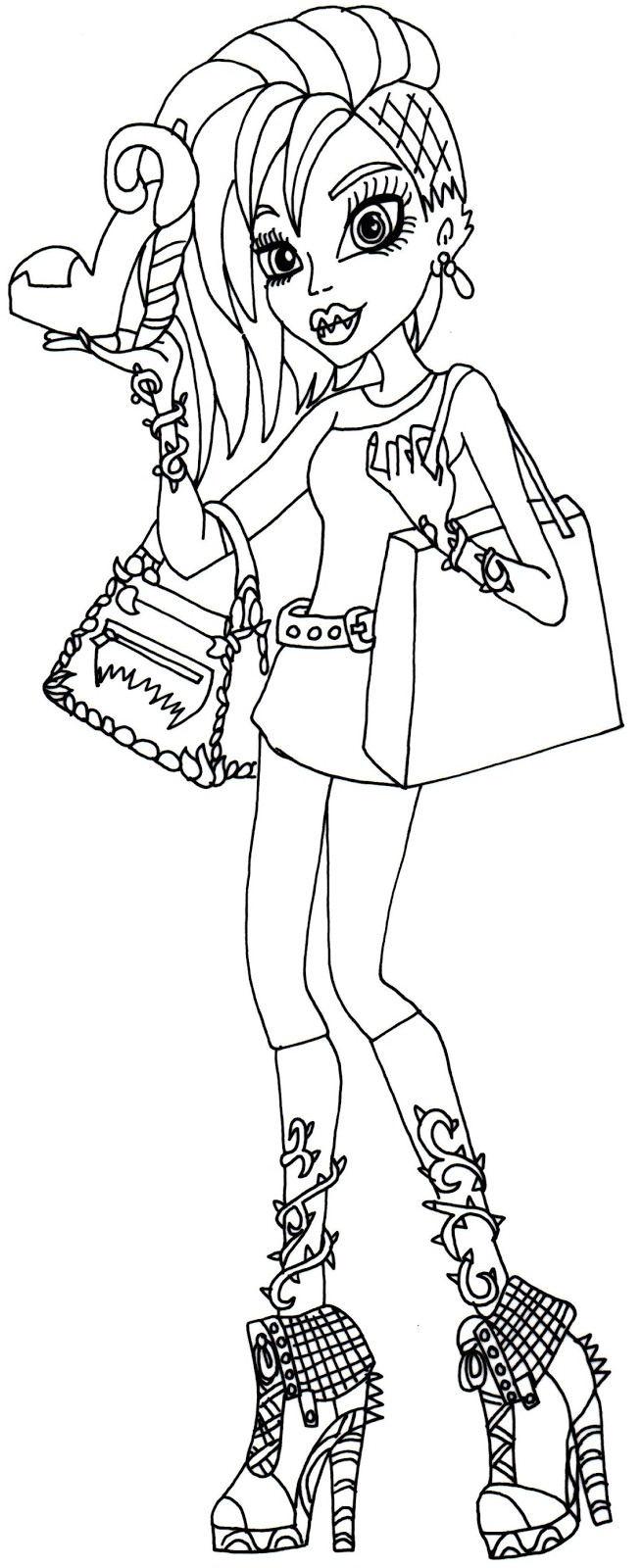 Monster High 43 Printable coloring pages