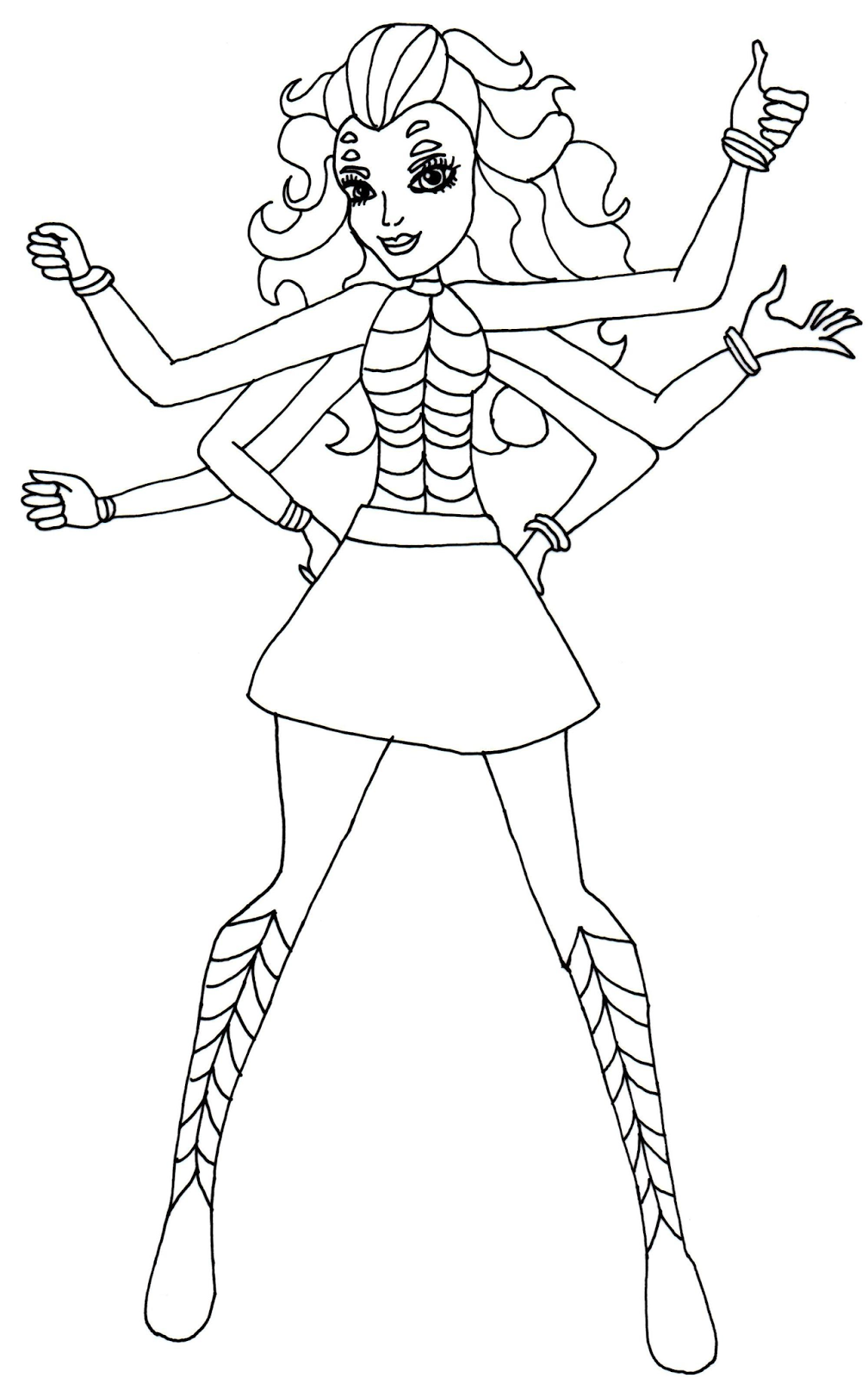 Monster High 45 Printable coloring pages