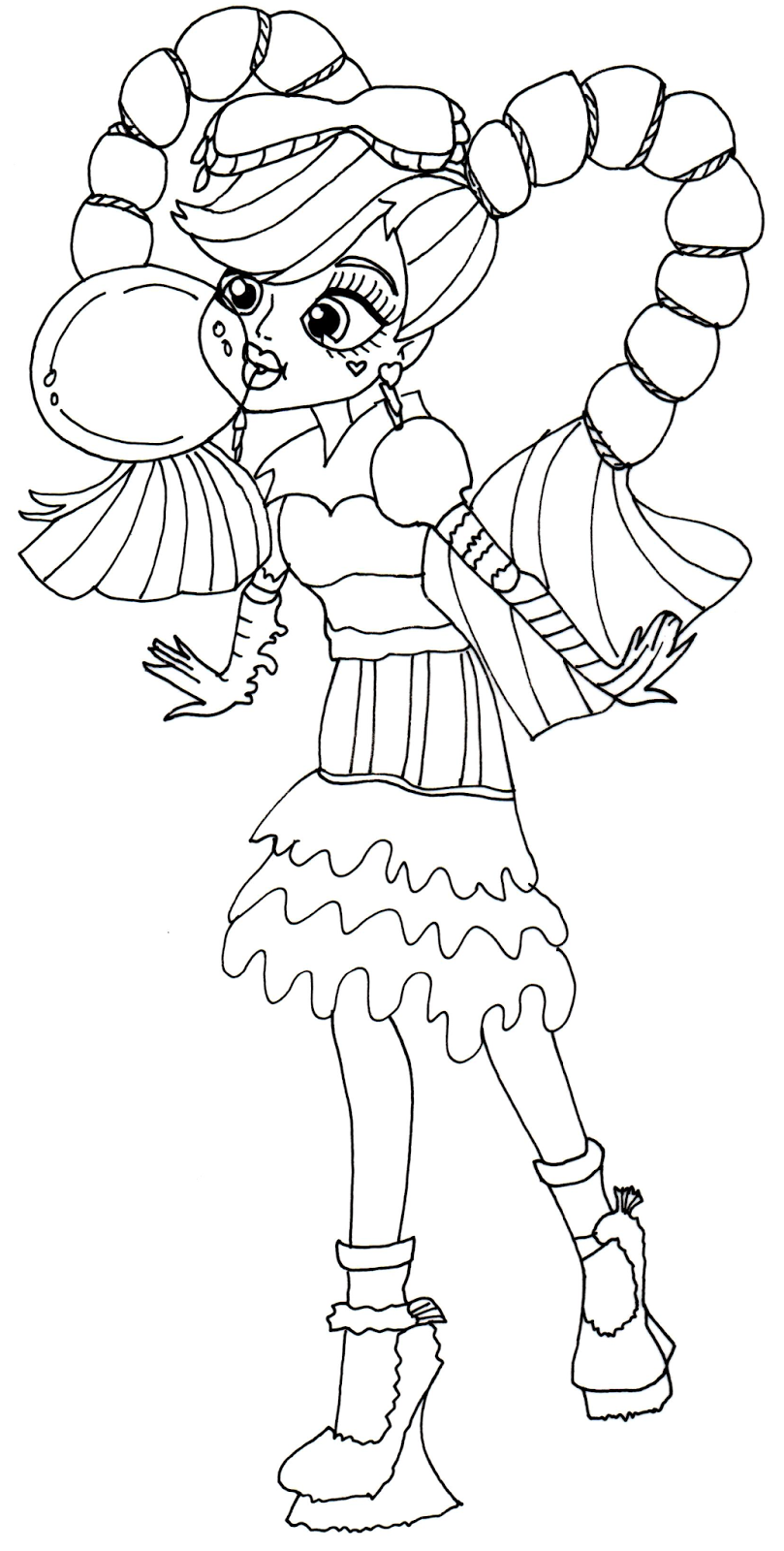 Monster High 9 Printable Coloring Pages