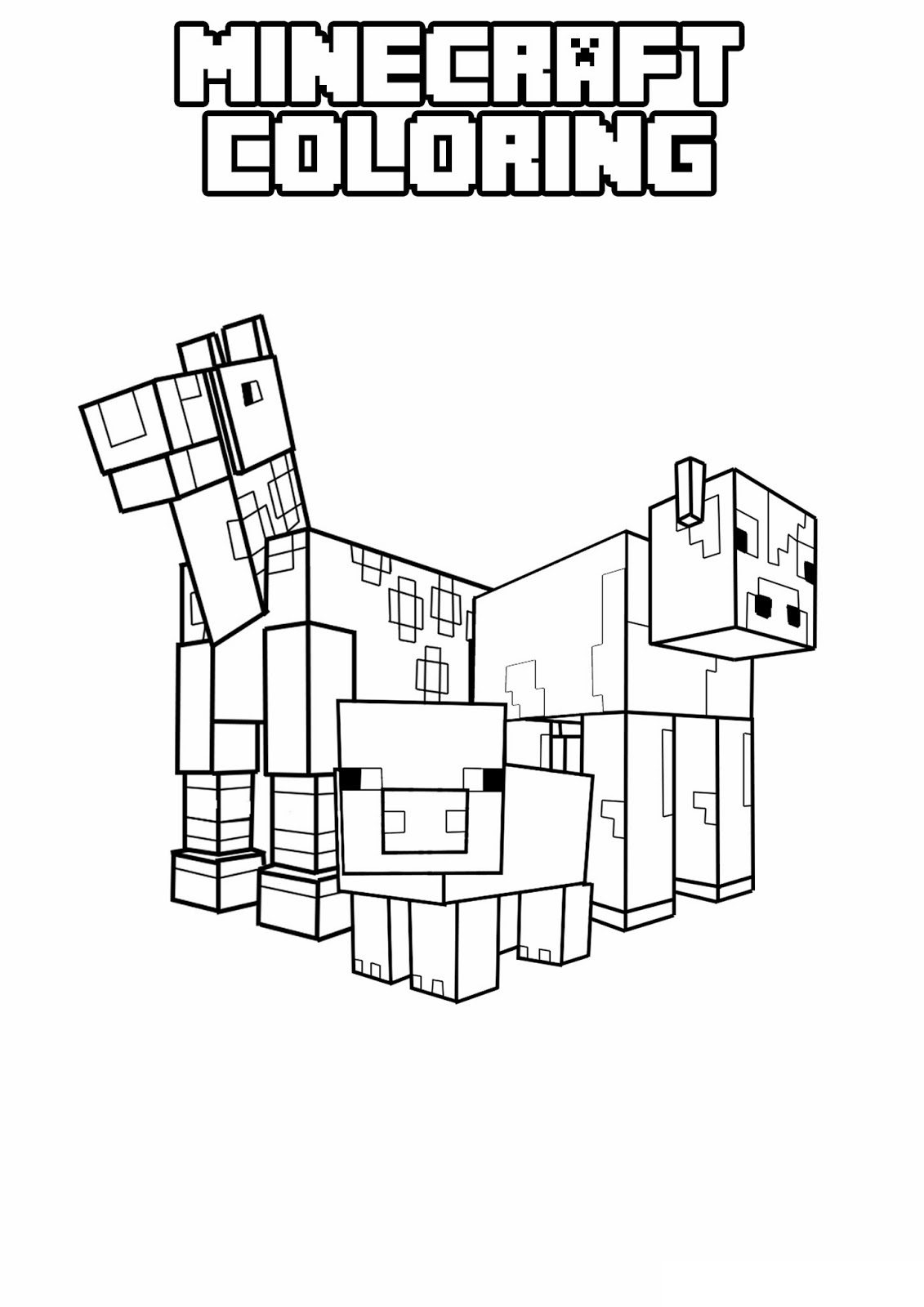 Minecraft 1 Printable coloring