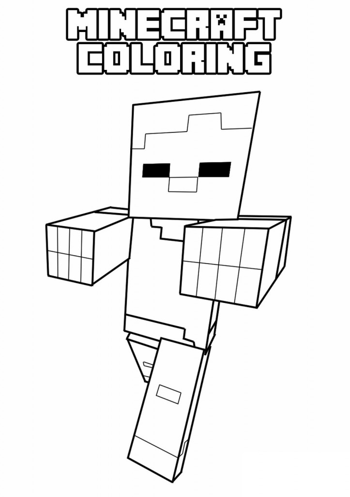 Minecraft 14 Printable coloring pages