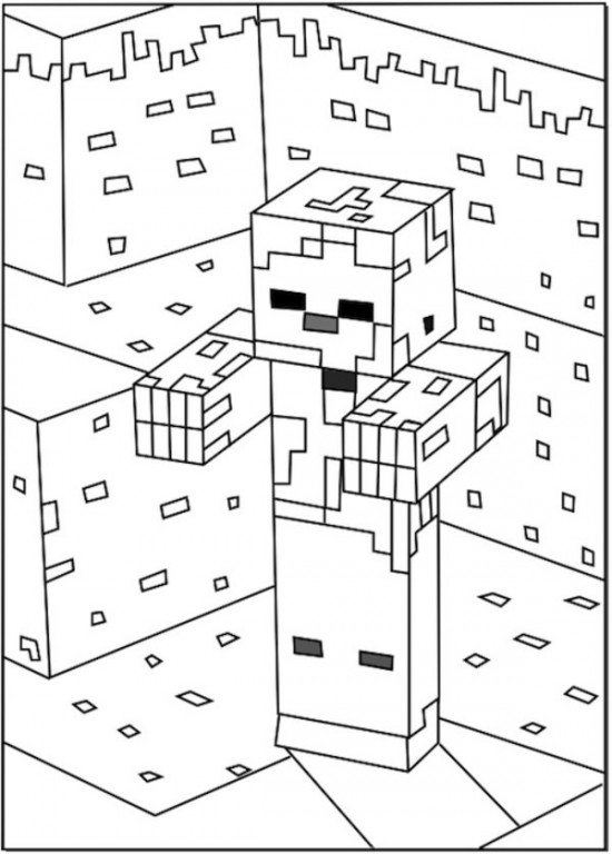 Minecraft 22 Printable Coloring Pages