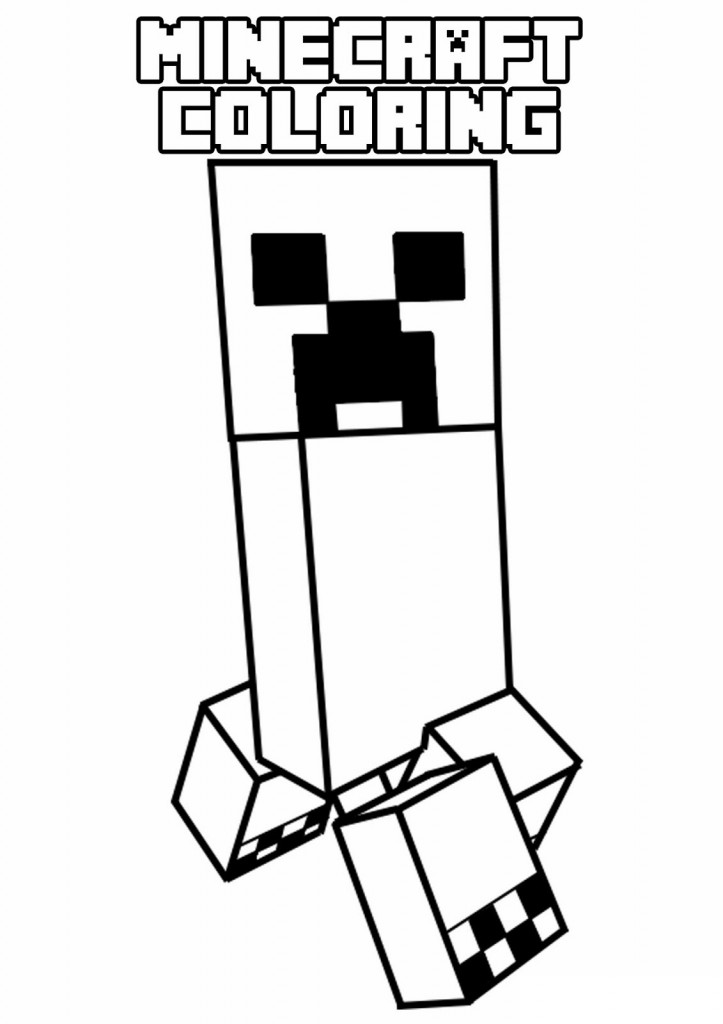 Minecraft 4 Printable Coloring Pages