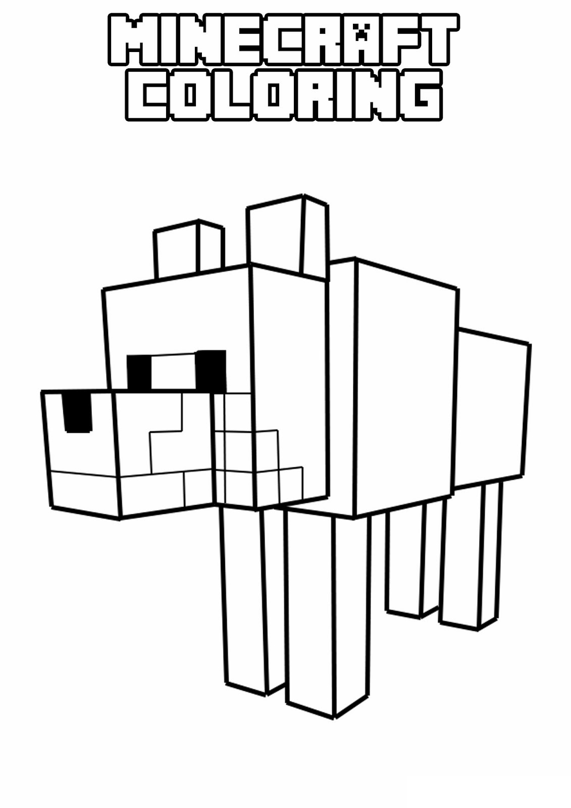 Minecraft 5 Printable Coloring Pages
