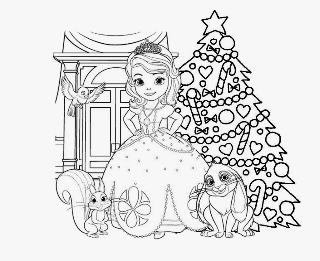 sofia the first 1 printable coloring pages